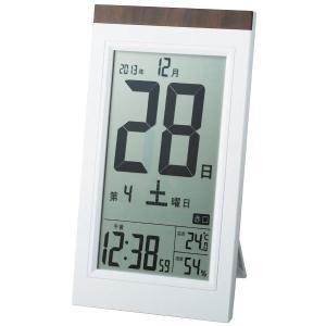 アデッソ 置き掛け兼用 デジタル日めくり電波時計...の商品画像