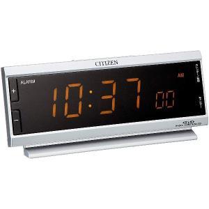 【あすつく】シチズン AC電源電波目覚まし時計 パルデジットピュア CITIZEN 8RZ099-019|tokutokutokiwa