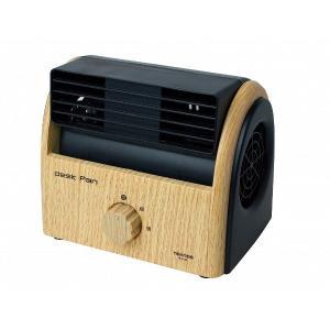 テクノス 木目調卓上扇風機 ナチュラルブラウン TEKNOS TI-3100|tokutokutokiwa
