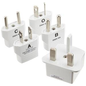 世界でも使用頻度の高いプラグのセットです。 海外で日本の電気製品を使うための変換(A・B・C・O・B...