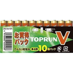 【メール便】富士通 FDK アルカリ乾電池 TOPV 単4形10個パック LR03(10S)TOPV tokutokutokiwa
