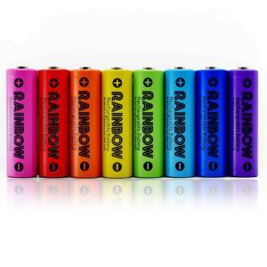 充電池 【ポスト投函便専用商品・送料無料・電池ケース2個付】BPS RAINBOW 単3形充電池 8本 ニッケル水素充電池(2100mAh)BPS-3NIJI8P tokutokutokiwa