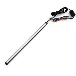 12V 汎用 LEDテープライト ラバーチューブ フラッシュ/流れるウィンカー機能 曲げる 防水 30CM 水色/黄切替 TOKUTOYO(トクトヨ)|tokutoyo