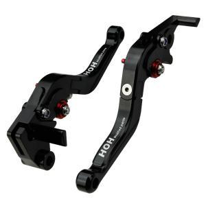 カワサキ(KAWASAKI)Ninja250R 08-12年 (K25F25)ブレーキ&クラッチレバー セット 可倒式 アルミ削り出し 黒 tokutoyo