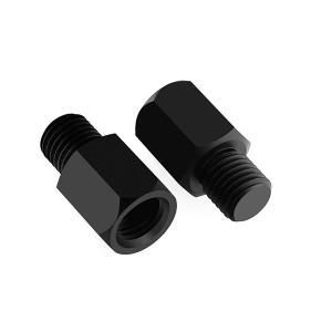 汎用 バイク ミラー変換アダプター 高さ調整 ミラー10mm→車体10mm 正ネジタイプ 左右セット TOKUTOYO(トクトヨ) tokutoyo