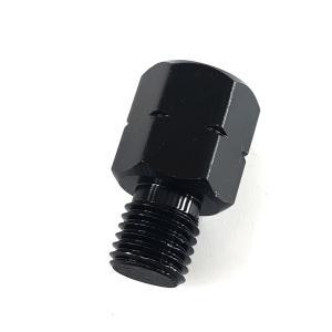 ミラー変換アダプター ミラー10mm→車体10mm 逆ネジタイプ(黒) TOKUTOYO(トクトヨ) tokutoyo