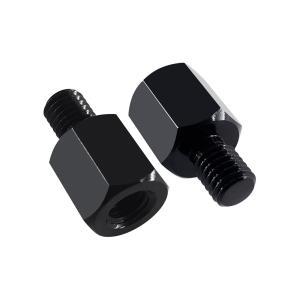 ミラー変換アダプター ミラー8mm→車体 8mm 正ネジタイプ 汎用 バイク セット 高さ調整
