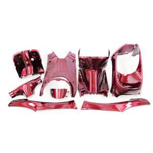 ホンダ ライブディオ(AF34/AF35)2型 インナーカウル 8点セット ワインレッド色 TOKUTOYO(トクトヨ) tokutoyo