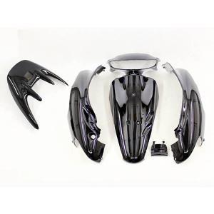 ホンダ ライブディオ/ZX(AF35-2型) 外装カウル 黒ブラック 6点セット TOKUTOYO(トクトヨ) tokutoyo