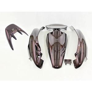 ホンダ ライブディオ/ZX(AF35-2型) 外装カウル 茶ブラウン  6点セット TOKUTOYO(トクトヨ) tokutoyo