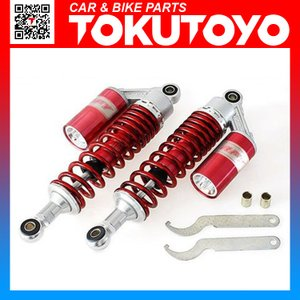 CB400SF/GSX400/ゼファー400タンク付き リアサスペンション 赤色 TOKUTOYO(トクトヨ)(クーポン配布中)|tokutoyo