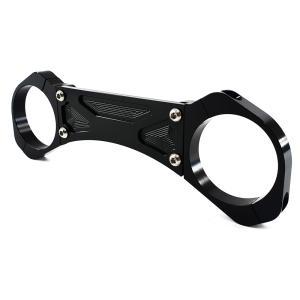 フロントフォーク用 スタビライ ザー カワサキ XTR1200、ZRX1200 、ZRX1100に適合 アルマイト 加 工 黒 1個 TOKUTOYO(トクトヨ) tokutoyo