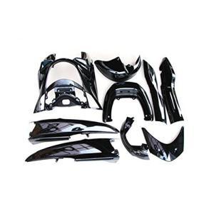 【特価】ヤマハ マジェスティ250 2/C SG03J 外装カウル 黒色 ブラック 9点セット TOKUTOYO(トクトヨ)|tokutoyo