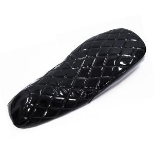 ヤマハ マグザム(MAXAM)SG17J・SG21J シート ダイヤカット エナメル フラット式 タイプF2 黒(ブラック)|tokutoyo