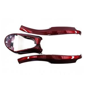 ヤマハ アプリオ/EX/II塗装アンダーモール3点セット ワインレッド色 JOG50 カウル 4JP 4LV SA11J|tokutoyo