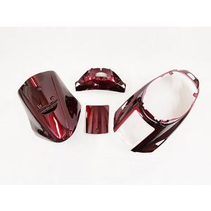 メットイン ジョグJOG(3KJ) 外装カウル4点セット ワインレッド色 4点 ヤマハ YAMAHA 外装セット|tokutoyo