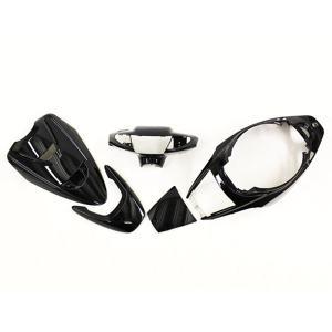 スーパージョグZR JOG-ZR(3YK)外装 黒メタリックブラック5点セット ヤマハ YAMAHA 外装カウル|tokutoyo