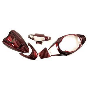 スーパージョグZR JOG-ZR(3YK) 外装 ワインレッド色5点セット ヤマハ YAMAHA 外装カウル|tokutoyo