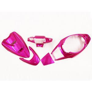 スーパージョグZR JOG-ZR(3YK) 外装 ローズレッド色5点セット ヤマハ YAMAHA 外装カウル|tokutoyo