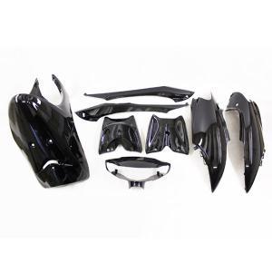 ヤマハ リモコンジョグ(SA16J) 外装カウル メタリックブラック 8点セット TOKUTOYO(トクトヨ)|tokutoyo
