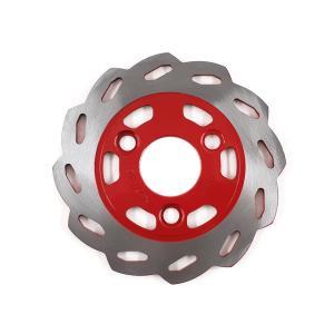 ヤマハ JOG/BW'S/アクシス90用 赤花形フロント ブレーキディスクローター|tokutoyo