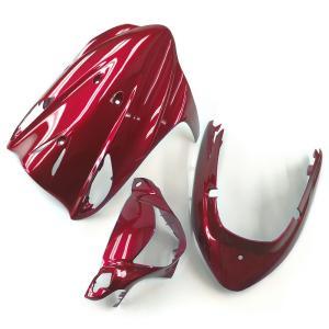 スズキ アドレスV125/G(CF46A/4EA) 外装カウル 3点セット ワインレッド色 TOKUTOYO(トクトヨ)|tokutoyo