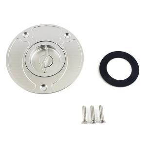 タンクキャップ アルミ 銀 GSR400、600、GSX1300R、SV650 TC331|tokutoyo