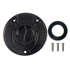 タンクキャップ アルミ 黒 TC332 GSX-R1000 2003-|tokutoyo