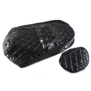 シートカバー 張替え用 黒 エナメル スカイウェイブ250 CJ43A 2点Set TOKUTOYO(トクトヨ)(クーポン配布中) tokutoyo