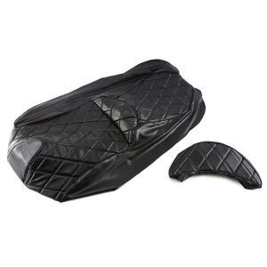シートカバー 張替え用 黒 レザー調 スカイウェイブ250 CJ44A/CJ45A/CJ46A2点セット TOKUTOYO(トクトヨ)(クーポン配布中) tokutoyo