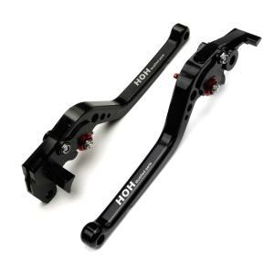 ブレーキ&クラッチ レバーセット アルミ 削り出し 6段階 ビレットレバー 黒 スズキ GSR750/ABSに TOKUTOYO(トクトヨ)|tokutoyo