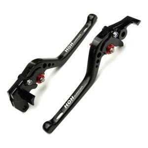 ブレーキ&クラッチ レバーセット 3Dタイプ アルミ 削り出し 6段階 ビレットレバー 黒 DL650 V-STROMに TOKUTOYO(トクトヨ)|tokutoyo