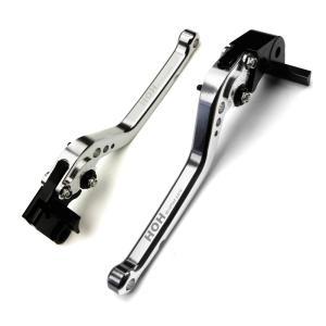 ブレーキ&クラッチ レバーセット アルミ 削り出し 6段階 ビレットレバー 銀 スズキ GSX-R1000/600/750に TOKUTOYO(トクトヨ)|tokutoyo