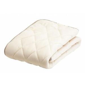 フランスベッド LT羊毛ベッドパッド(ソフト-ミディアム)  セミダブル 122×195cm|tokuyama