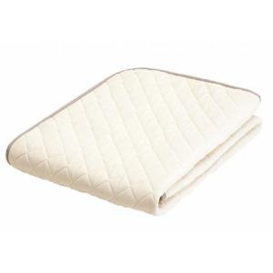 フランスベッド LT羊毛ベッドパッド(ハード-ミディアム)  ワイドダブル 154×195cm tokuyama