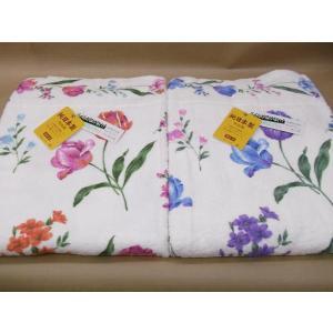 国産綿マイヤー 花柄 タオルケット (パーティー) 日本製 シングル 145×190cm|tokuyama