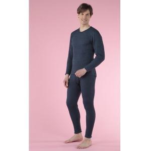 防寒健康肌着 ひだまり チョモランマ 紳士 長袖丸首+ズボン下  上下セット M〜LLサイズ