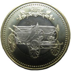 天皇陛下御在位30年記念五百円バイカラー・クラッド貨幣
