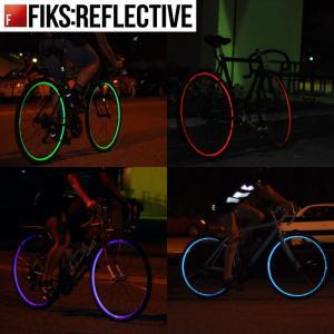 自転車 ホイール 反射 Fiks:Reflective 自転車用ホイール用リフレクター 16インチ用 テープ幅10mm 1ホイール分 定形外郵便可|tokyo-depo