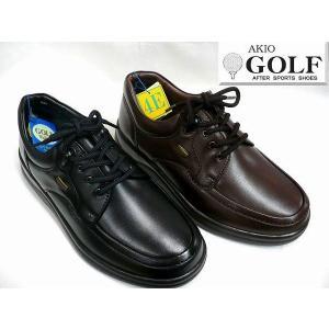 AKIO GOLF アキオゴルフ 696 メンズ レザー カジュアルシューズ ビジネスシューズ ウォーキングシューズ|tokyo-do
