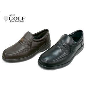 AKIO GOLF アキオ ゴルフ 1066 メンズ ソフトレザー カジュアルシューズ ビジネスシューズ|tokyo-do