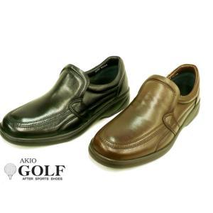 AKIO GOLF アキオ ゴルフ 2212 メンズ レザー カジュアルシューズ ビジネスシューズ ウォーキングシューズ ゴートレザー(山羊革)|tokyo-do