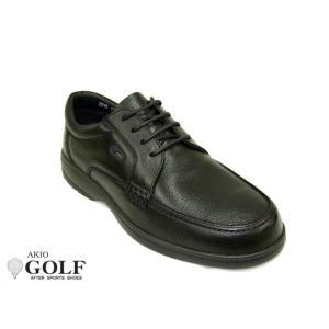 AKIO GOLF アキオ ゴルフ 2215 メンズ レザー カジュアルシューズ ビジネスシューズ ウォーキングシューズ シュリンク加工 レースアップ|tokyo-do