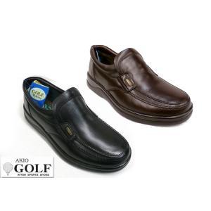 AKIO GOLF アキオ ゴルフ 695 メンズ レザー カジュアルシューズ ビジネスシューズ ウォーキングシューズ|tokyo-do