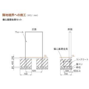 ディーズポルタ オプション/偏心基礎金具セット【ディーズガーデン正規特約店】|tokyo-gardening