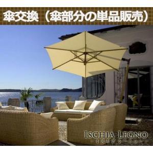 【ガーデンパラソル】イタリアFIM社/イスキア・レーニョ/交換用スペアパラソル|tokyo-gardening