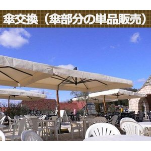 【ガーデンパラソル】イタリアFIM社/カプリ・レーニョ 交換用スペアパラソル|tokyo-gardening