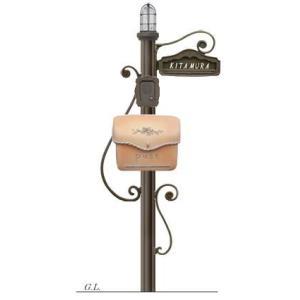 ディーズポール シャルル (照明タイプ、ポーチまたはスタッコ、鋳物文字、インターフォンカバー付)|tokyo-gardening