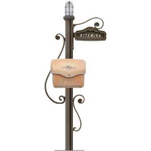 ディーズポール シャルル (照明タイプ、ポーチまたはスタッコ、鋳物文字、インターフォンカバー無)|tokyo-gardening