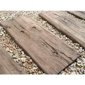 【腐らない石製枕木】|コンクリート枕木 ログ・スリーパー 40枚セット【英国ブラッドストーン社製】|tokyo-gardening